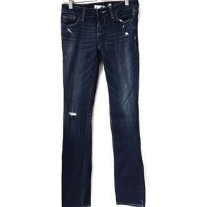 Abercrombie And Fitch 00R Jean Straight distressed